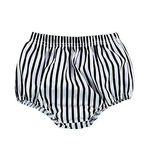 Brightup Baby Mädchen Junge Sommer Striped PP Shorts Hosen, Cute Panty (Panty Französisch)