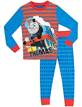 Thomas the Tank - Pijama para Niños - Thomas the Tank - Ajuste Ceñido