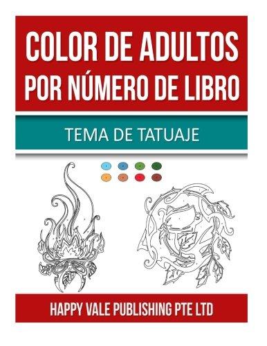 Color De Adultos Por Número De Libro: Tema De Tatuaje