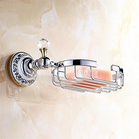 Modylee Bagno accessori prodotti solido ottone & cristallo 5colors per scegliere SoapBasket, soap Dish Holder, soap Box 6312 , 3