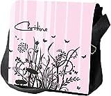 Borsa a tracolla borsa personalizzato regalo Viticcio fiori fiori farfalla partito