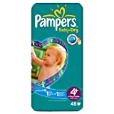 Pampers Baby Dry Größe 4 + (9-20kg) Economy Pack 6 pack x 48 pro Packung