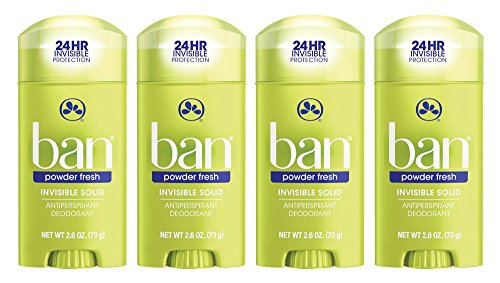 Ban Antiperspirant Deodorant, Invisible Solid, Powder Fresh, 2.6-Ounce Bottles by Ban -