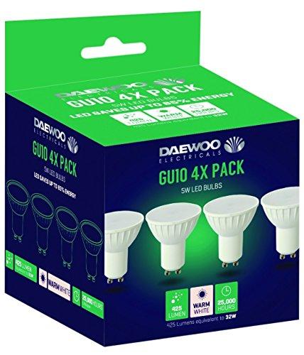 DAEWOO LED Bulbs, GU10, 40 W, Warm White