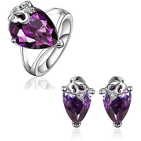 NYKKOLA New Fashion Jewelry-Orecchini a goccia placcati in platino, con fedi, gioielli da sposa - Fedi In Platino Mens