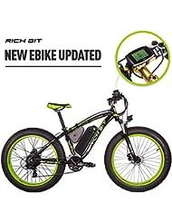 Rich Bit Rt-022 E-Bike Vélo électrique 66 cm 4.0 gras Pneu Coco Bike Vélo électrique Ebike 1000 W Haute Puissance Moteur 48 V * 17 Ah Batterie au lithium de grande capacité High Life 21 Speed Shimano Compteur de vitesse Frein à disque Vert