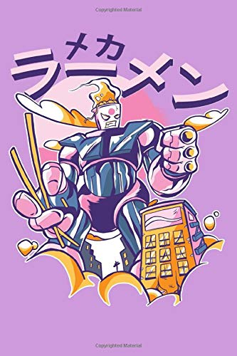 Asian Anime Manga Cool japanese mechanical technology noodles command Robot Notebook: Dot grid paper with 150 Pages Journal or Notebook A5 (6x9 inches)