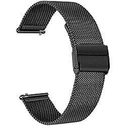 TRUMiRR Remplacement pour Samsung Galaxy Watch 46mm/Gear S3 Frontier/Gear S3 Classic Bracelet, 22mm Bracelet de Montre en Acier Inoxydable Bracelet en métal à dégagement Rapide pour Huawei Watch GT