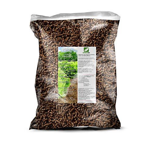 GREEN24 Premium Naturdünger Pellets 5 kg für Gemüse, Obst, Garten- und Balkonpflanzen, Bio Pferdedung geruchsarm -