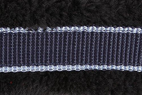 Halfter mit Kunstfell unterlegt, blau-hellblau Full