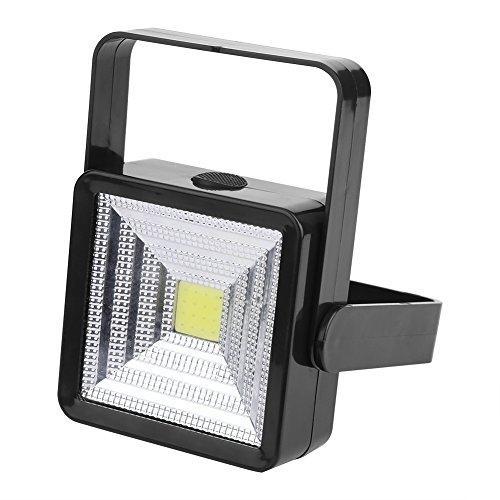 Zerodis LED COB Arbeitslicht tragbare Zwei Modi Solar Power USB wiederaufladbare Sicherheitsarbeit Notfall Garten Outdoor Flut Spot Lampe für Billboards Camping Wandern (Schwarz) - Solar-power-outdoor-flut-licht