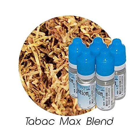 MA POTION - Lot de 5 E-Liquide TABAC Max Blend, Eliquide Français Ma Potion, recharge liquide cigarette électronique. Sans nicotine ni tabac