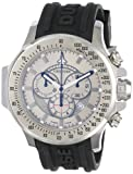 Chase-Durer Men's 380.2SS-RUBB Firestorm Chronograph Stainless Steel Rubber Strap Watch