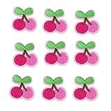 VALYRIA Flicken Aufnäher Applikation Aufbügelbilder Rosa Kirsche 5Stücke