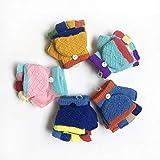 ChildGlove 2018 Winter Kinder Handschuhe, Winter warme Handschuhe Flip halbe Finger Handschuhe Baby Handschuhe Winter warme Handschuhe Kinder 0-3 Jahre alt, gelb, eine Größe