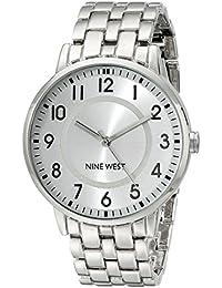 Nine West para mujer NW/1689svsb fácil de leer reloj de pulsera Plateado