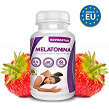 Melatonina 0,5mg con vitamina B6, 60 comprimidos de melatonina masticable sublingual con sabor