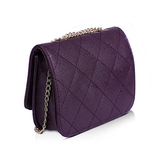HDE, Borsa a tracolla donna Dark Purple