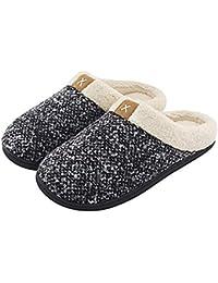 Hishoes Zapatillas de Estar por casa para Mujer Hombres Antideslizante Interior Casa Caliente Slippers Pareja Zapatos