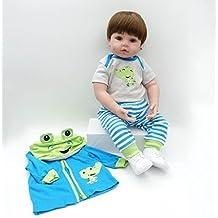 MAIDEDOLL Reborn Muñecas de bebé de Vinilo de Silicona Suave Realista Recién Overol Chamarra Azul Pantalones