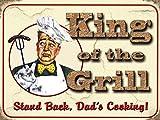 Original imán - King of the grill - regalo nevera Imán con diseño de la cocina o de la decoración 80129