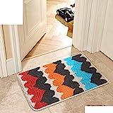 HXY Mats-Kitchen Badezimmer WC-Fußmatte/Fußmatte/Tür in die Flurtür Matten/Nonlip Mats,J,50X80Cm (20X31Inch)
