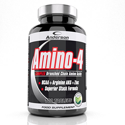 Anderson Amino 4 100 tablets BCAA e arginina AKG e Zinco aminoacidi ramificati