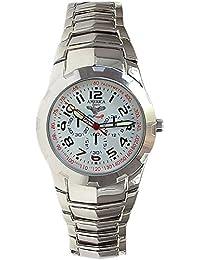 America Sports M5475 - Reloj para hombres, correa de metal color plateado