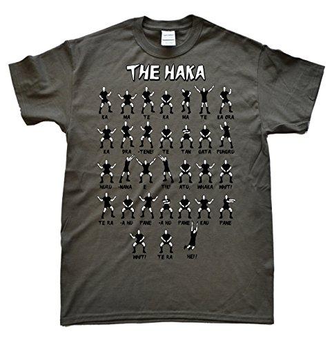 New Zealand Rugby Haka Gris Foncé T-Shirt, Taille M par  JeKat