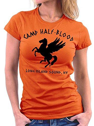 Camp Halfblood woman T-shirt, Größe S, Orange