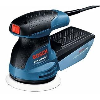 Bosch Professional GEX 125-1 AE – Lijadora excéntrica (250 W, Microfiltro, Ø plato lijador 125mm, en caja)