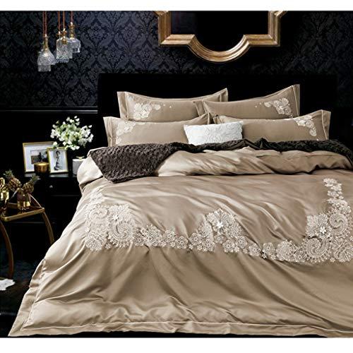Seide Bettwäsche Bettbezug Kissenbezug 4er Set (Color : C) - Bettbezug Twin Männer