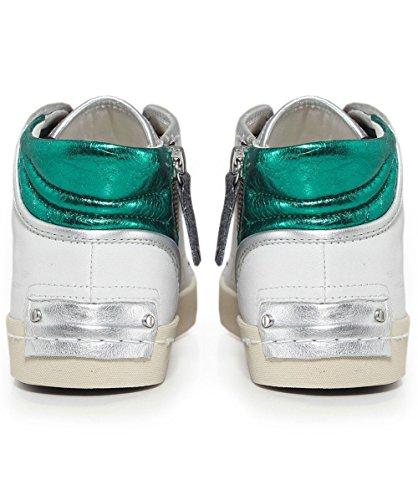 Crime London 25320ks1, Sneaker a Collo Alto Donna Bianco (Weiß)