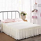 Best LA Linen Bed Skirts - Summer Lace Bed Skirt,Single Piece Pleated Eco-friendly Non-slip Review
