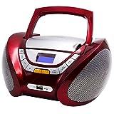 Lauson CP442 CD Portatile Lettore USB Radio Mp3 USB, Boombox Music System, AUX IN CD-Radio