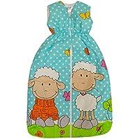 BOMIO Schlafsack Baby Frühljahr und Sommer | Baby- und Kleinkinder-Schlafsack | sicherer komfortabler Schlaf | 100% Baumwolle Oeko-Tex zertifiziert