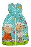 Bomio Baby Winter-Schlafsack, Öko-Tex Standard 100, (Schäfchen (Türkis), 70 cm (0-6 Monate)) thumbnail