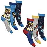 6er Pack Jungen Socken Strümpfe Paw Patrol mit vielen verschiedenen Muster und Designs (Paw Patrol Mix 3, Schuhgröße EUR 31-34)