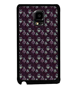 Fuson Premium 2D Back Case Cover Pattern of grapes and heart With Multi Background Degined For Samsung Galaxy Note Edge::Samsung Galaxy Note Edge N915