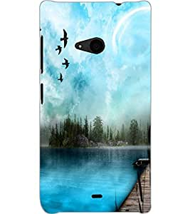 MICROSOFT LUMIA 535 DUAL VIEW Back Cover by PRINTSWAG