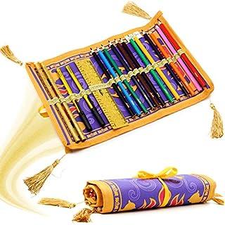 Disney Aladdin Gefüllte Federmäppchen Schreibwaren Rolle Fliegender Teppich Design 17-teiliges   Kunstfarbset für Kinder Geschenkidee ab 3 Jahren