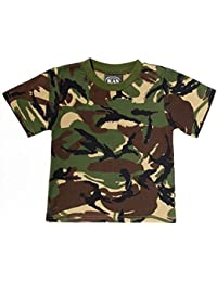 Cotton Woodland Camo T-shirt - 7/8yrs