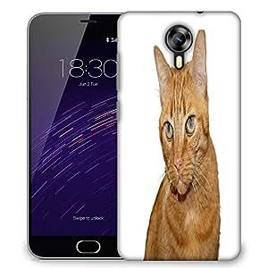 Snoogg cat Designer Protective Back Case Cover For Meizu M2