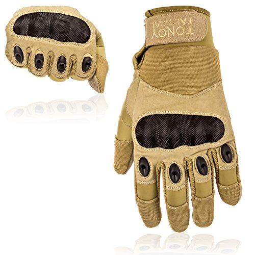 Taktische Handschuhe - Voll-Finger harte Knöchel Fahren Motorrad Schießen Polizei Airsoft Swat Kampf Militär Überfall taktische...
