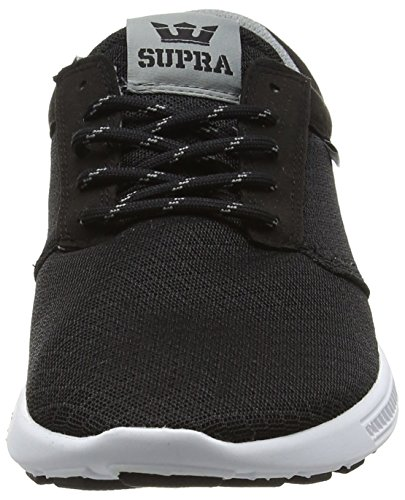Supra Hammer Run, Sneakers Basses mixte adulte Noir (BLACK / GREY - WHITE BGR)