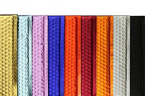 Farbige Luftpolstertaschen | Premium | 250 x 334 mm Rot (10 Stück) mit Abziehstreifen | Briefhüllen, Kuverts, Couverts, Umschläge mit 2 Jahren Zufriedenheitsgarantie