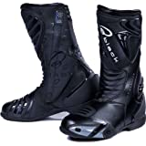 Black Zero Motorcycle Boots