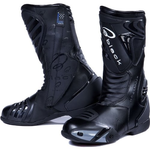 Black Zero - Motorrad-Stiefel - wasserdicht - Sport/Racing - Schwarz - EU46