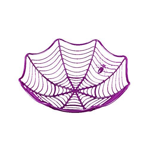 -Frucht-Platte Halloween Dekoration kreative Süßigkeit Keks Obst Süßigkeiten Korb Schüssel für Halloween-Partei-Dekor (lila) ()