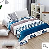 FOREVER-YOU Das Coral Fleece Decke Klimageräte Decke niedrig nap Doppel im Winter Dicke Decke,1,5 x 2 M,B